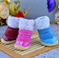 Wholesale Small Dog Sandals - 2016 New Anti-Slip Warm Dog Boots Bowknot Breathable Sandals Pet Puppy Sweet Shoes