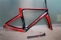 Wholesale 2016 hot sell Clipolli NK1K carbon road bike frame black red matte carbon weave bike frame