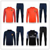 barcelona sportswear - 2016 Real Madrid France Best quality barcelona soccer tracksuit chandal football Tracksuit training suit skinny pants Sportswear