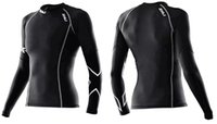 bamboo bicycle - 2XU Women Compression Tights T Shirt Running Bicycle Fitness T Shirt Long Sleeve Outdoor Moisture Wicking Quick drying C30