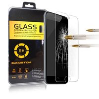 Wholesale For iPhone Plus Tempered Glass For s S SE s plus Samsung S6 S7 edge note S4 S5 Front Screen protector with retail plastic box