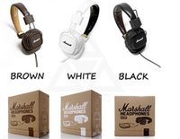 bass hooks - Genuine Marshall Major headphones With Mic Deep Bass DJ Hi Fi Headphone HiFi Headset Professional DJ Monitor Headphone Original