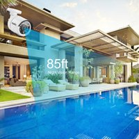 Wholesale SANNCE HD P CCTV Security Cameras pcs1 MP outdoor white Surveillance camera system with IR night vision for home protection