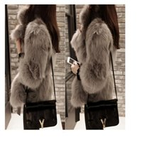 Wholesale Women white gray Fur Coat Faux Fur Outerwear Short Winter Fur Overcoat Large Size Fur Jacket