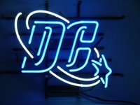 Wholesale Dc Comics th Anniversary Glass Neon Sign Beer light