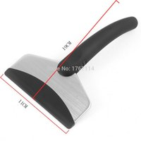 auto snow removal - teel bending tools Black Mini Vehicle Car Ice Shovel Emergency Scraper Removal Snow Auto Clean Tool High Quality Rubber Stainless S