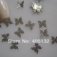 Wholesale MS Metal Silver Butterfly Nail Art Metal Sticker Nail Art Decoration Fancy Outlooking Stickers amp Decals
