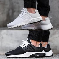 air flats - 2016 Air Presto BR QS Breathe Classical Black White Running Shoes for Men Women Cheap Original Air Presto Sport Shoe Hot Sale Size Eur