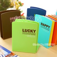 Wholesale pair Fresh and lovely candy color cartoon books Bookends bookshelf plastic