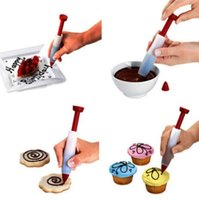 Wholesale Silicone Cake Decorating Syringe Cookie Pastry Cream Chocolate Plate Pen