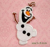 China baby decorating games - Olaf Frozen Embroidered Iron On Patch snowman motif appliqué game Kids Gift baby Shirt Cap Bag Decorate Individuality