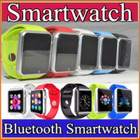 Cheap 2016 A1 Smart Watch Bluetooth Wearable Waterproof Smart Watches for Iphone Android Smartphone Smartwatch Camera Free Shipping GT08 F-BS