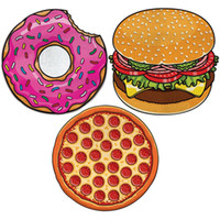 bathing mat - 150cm Large Beach Mat Picnic Blanket Swimsuit Cover Ups Swim Towel Bathing Suit Cover ups Sexy Shawl Lie On Donut Pizza Hamburger