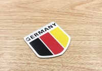 aluminum signage - New D Aluminum ENGLAND GERMANY ITALY YEMEN National Flag Emblem Badge Car Motorcycle Signage Nameplate Logo Car Stickers
