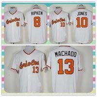 Wholesale New Product Baltimore Orioles Baseball Jersey Cal Ripken Adam Jones Manny Machado White Throwback Jerseys