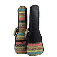 Wholesale Good quality Vintage inch soprano concert tenor ukulele bag package case soft gig padded uke pattern creative gifts kid girl boy