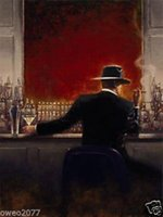 Wholesale MODERN ABSTRACT HUGE WALL ART OIL PAINTING ON CANVAS The Bar Man No Frame