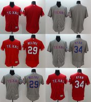 texas rangers - Men s Elite Flexbase Texas Rangers Adrian Beltre Nolan Ryan Cole Hamels Baseball Jerseys Red Stitched Free Drop Shipping