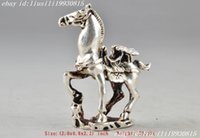 antique horse statue - Tibet Silver Chinese Old Collectable Handwork Carving Horse Statue Decor