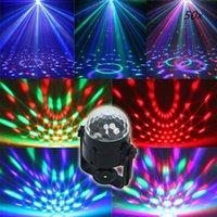 Wholesale Best Promotion Mini RGB LED Crystal Magic Ball Stage Effect Lighting Lamp Party Disco Club DJ Light Show US Plug