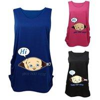 Wholesale New Arrivals Women s Pregnant T shirt Maternity Supplies Shirt Sleeveless Baby Avatar Patterns Soft Cotton Fashion KD5