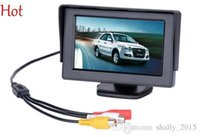 Wholesale Nice Pop quot TFT LCD Car Monitor Rearview with LED Backlight Display for Camera DVD CCTV VCR Backup Suport PAL NTSC Video Monitors