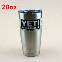 aluminum coffee mug - 20oz Yeti Rambler Tumbler Stainless Steel Vacuum Insulated Cup Double Walled Travel Mug Car Beer Coffee Cup
