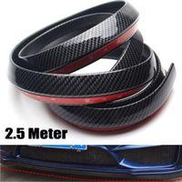 Wholesale New Black M Car Front Bumper Lip Splitter Spoiler Skirt Carbon Fiber Protector YY087