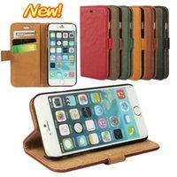bark color - IPHONE plus bark pattern flip phone purse holster APPLE6 pure color mobile phone cases
