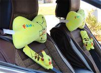 Wholesale Pikachu pc car seat neck head pillow pc Car Seat Belt Padding Automobiles Interior Accessories Car Safety Belt Cover Shoulder Pads Cushion