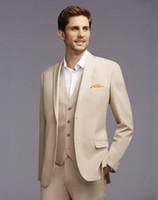 best dance classics - The latest fashion of cream colored man wedding suit jacket pants vest suits best man suit custom dance