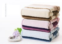Wholesale Brand cotton large bath towel adult soft health big bath sheet thicker X80cm