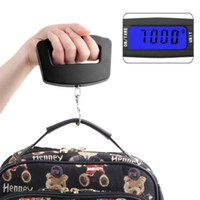 Wholesale Black LED Digital Kg g Fish Hook Hanging Electronic Weighting Luggage Scales Mini Digital Hand Held Hook Hanging Scale