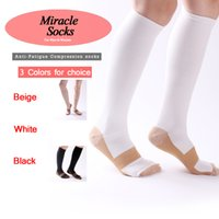 Wholesale Slimming socks with High Elastic compression socks breathable absorbing sweat stocking for all adults unisex