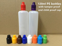 Wholesale 5000pc ml PE Bottle Plastic Dropper Bottle With Tamper Evident Child proof Cap Long Thin Tip For E Juice E Liquid DHL Free