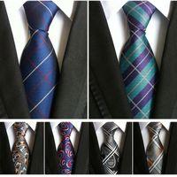 Wholesale New Arrivals Men s Ties pin high density polyester Paisley cashew flowers men Suit tie for Men business tie Groom Ties cm