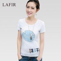 big graphic tees - Embroidery Cotton T Shirt Women Korean Fashion Big Size T Shirt Women Graphic Tops Tees Short Sleeve TShirt Tee Shirt Femme