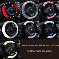 auto upholstery supply - Winter Plush Car Steering Wheel Cover Accessories Auto Upholstery Supplies Universal cm Warm Short Wool Plush