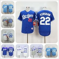 Wholesale LA Dodgers Clayton Kershaw Jersey White Home Gray Road Blue Alternate Stitched Los Angeles Dodgers Cool Base Baseball Jersey