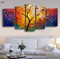 Wholesale Palette Knife Painting Art Handmade Flower Modern Oil Painting On Canvas Wall Art Gift Canvas Painting No Framed TH182