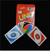 baseball card sets - Stock ready Sets UNO poker card standard edition family fun entertainment board game Kids funny Puzzle game By DHL