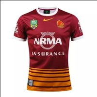 Wholesale thailand quality New BRISBANE BRONCOS HOME NRL Rugby Jerseys brisbane broncos Rugby shirts red brown A quality Jerseys