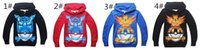 Wholesale Free DHL Styles Poke Go Hoodies Newly Kids Cartoon Pikachu Long Sleeve Hoodies Children Spring Autumn Clothes
