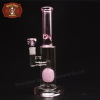 big pineapple - Pink Glass Bongs Straight Type Inch Height Pineapple Perc Big Glass Bongs Glass Smoking Water Pipes with Joint XD