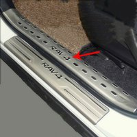 Wholesale For Toyota RAV4 Stainless Steel Inner Door Sill Scuff Plate Top Welcome Pedal Threshold Strip Car Styling Accessories set