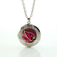 arizona silver - Vintage animal photo locket necklace Arizona Cardinals team Newest mix sport team glass cabochon jewelry for men and womenNF065
