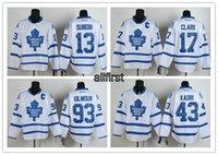 Wholesale Cheap NHL Men s Toronto Maple Leafs CCM Throwback White Ice Hockey Jerseys Wendel Clark Joffrey Lupul Kadri etc All Stitched