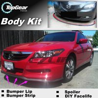 accord front bumper - For Honda For Accord Bumper Lip Lips Front Skirt Deflector Spoiler For Car Tuning The Stig Recommend Body Kit Strip