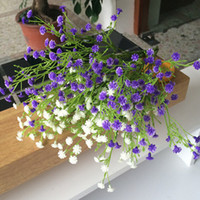 Wholesale Decorative Plastic Artificial Flowers Purple White Gypsophila Baby s Breath Fake Flower Plants For Home Wedding Party Christmas Decoration