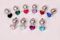 Wholesale 2016 heart shape Metal small Anal Plug mm Stainless Steel Butt Plug adult Sex Toys For Woman men Erotic Sex Products BY DHL